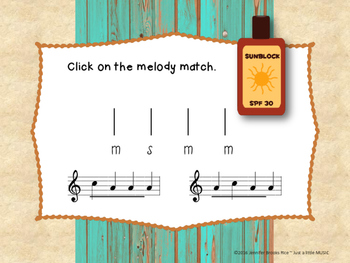 Day at the Beach--Melodic Notation Recognition Game {sol mi}