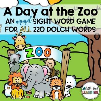 Day at the Zoo Dolch Sight Word Game - All 220 Dolch Words!