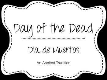 Day of Dead Bilingual Lesson & Activities Spanish/Inglés D