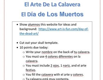 Day of Dead Día de los Muertos Skull art