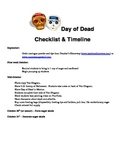 Day of Dead Sugar Skull-making Checklist & Timeline, and W