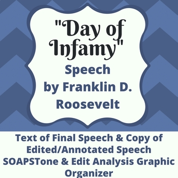 Day of Infamy SOAPSTone