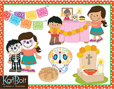 Day of The Dead Dia de Muertos Clip Art Bundle