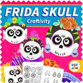 Frida Kahlo Sugar Skull - Back to School Classroom Decor Hispanic Activity