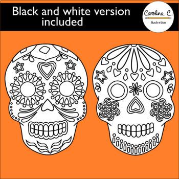 Day of The Dead, Skulls - Día de Muertos, Calaveras Clip Art