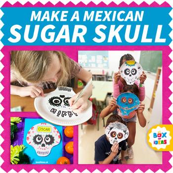 Day of The Dead Sugar Skulls Template - Print for Dia de Los Muertos projects