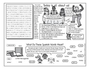 Day of the Child (El Día de los Niños) Two-Page Activity Set