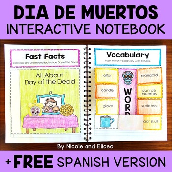 Interactive Notebook - Day of the Dead Activities