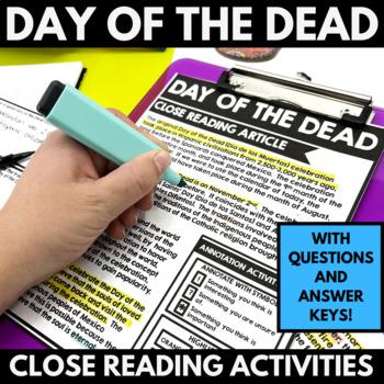 Day of the Dead - El Dia de los Muertos - Close Reading Resources and Activities