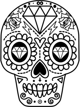 Day of the Dead Activity (Includes coloring page & word search!)