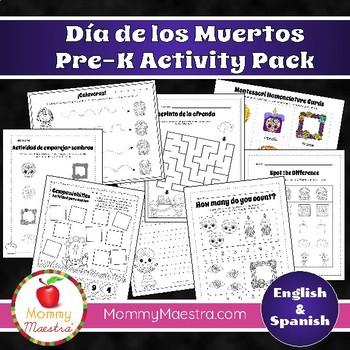Day of the Dead Activity Pack for PreK - Kindergarten