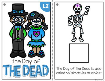 Day of the Dead Adapted Book { Level 1 and Level 2 } el dia de los muertos