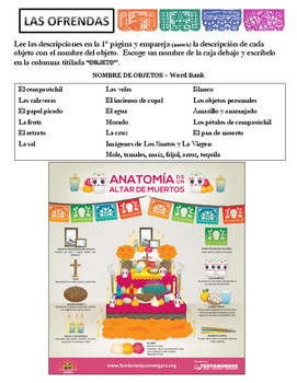 Día de los Muertos Altar Class Project (Notes and Reading)