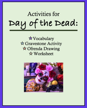 Day of the Dead Art Activity for Spanish, Dia de los Muertos Ofrenda, Vocabulary