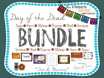 Day of the Dead Bilingual BUNDLE. 6 products. Dia de Muertos PAQUETE