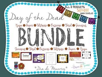 Day of the Dead Bilingual BUNDLE. 6 products. Dia de Muert