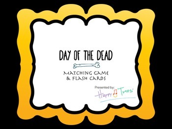 Day of the Dead Bilingual Matching Game & Flashcards. Vocabulary. Dia Muertos