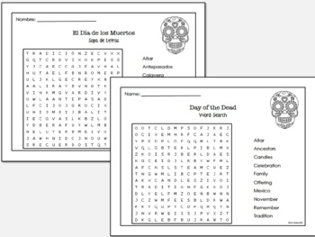 Day of the Dead Story and Activity (Spanish and English bundle)