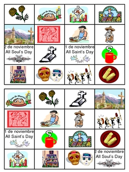 Day of the Dead Bingo Game
