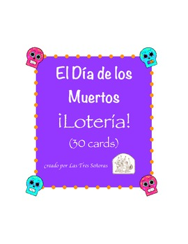 Day of the Dead Bingo/Dia de los Muertos Loteria Game