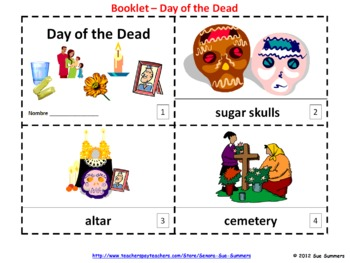 Day of the Dead Booklets & Presentation - English