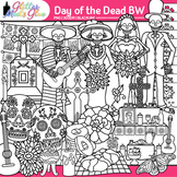 Day of the Dead Clip Art | Dia de los Muertos for Workshee