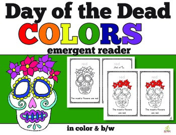 Day of the Dead Color Words Emergent Reader (English Version)