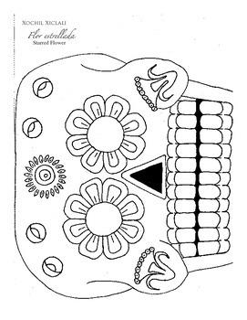 Day of the Dead Coloring Book Printable Dia de los Muertos hojas para colorear