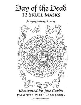 Day of the Dead Coloring Book Printable Dia de los Muertos hojas ...