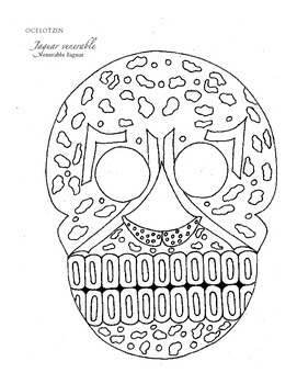 day of the dead coloring book printable dia de los muertos hojas para colorear - Day Of The Dead Coloring Book
