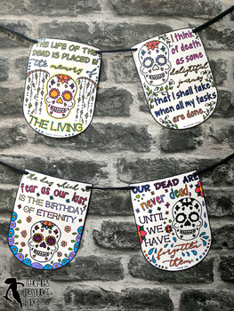 Day of the Dead Coloring Sheets, Pages, Banners, Pennants - Inspirational Quotes