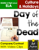 Day of the Dead vs Halloween Video Lesson with Graphic Organizers in English