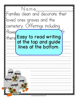 Day of the Dead Copywork Level 3 for Print and Cursive