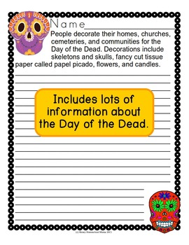 Day of the Dead Copywork Level 4 with Wide Rule Lines for Print or Cursive