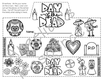 Day of the Dead : Crowns and Wristbands - Dia de los Muertos Craft