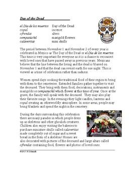 Day of the Dead Cultural Reading - Día de los Muertos (English Version)
