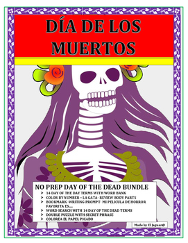 Día de los Muertos- No Prep - Day of the Dead Activity Bundle