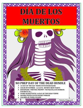 Día de los Muertos- No Prep - Day of the Dead Activity Bundle