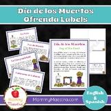 Day of the Dead - Día de los Muertos - Ofrenda Labels