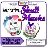 Art Lesson Halloween Decorative Skull Masks