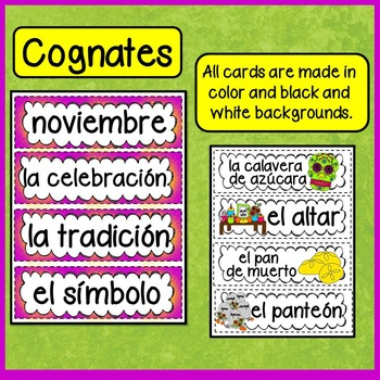 Word Wall Bilingual:  Day of the Dead (Día de los Muertos)