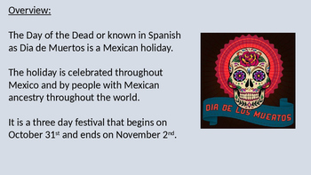 Day of the Dead - Dia de Muertos Power Point history facts review information
