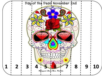 Day of the Dead Dia de Muertos Puzzle 1-10 Bilingual Stars Mrs Partida