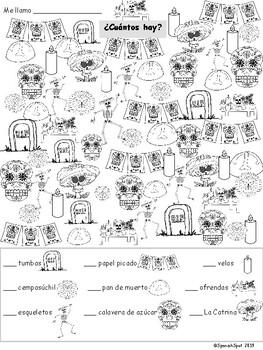 Day of the Dead (Día de los Muertos) 4 Pack of Worksheets + Bonus Word Search