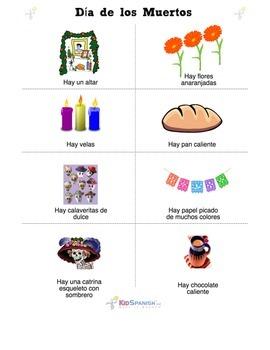 Day of the Dead / Dia de los Muertos Altar Activity Vocabulary