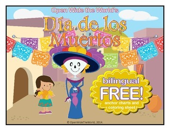 Day of the Dead Dia de los Muertos BILINGUAL Freebie - English & Spanish! by Open Wide the World