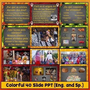 Spanish Day of the Dead Día de los Muertos Lesson Plans PowerPoint Video Crafts