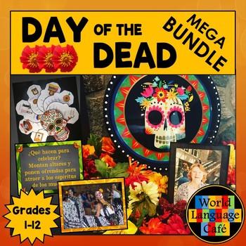 Spanish Day of the Dead Día de los Muertos, PowerPoint, Videos, Crafts, Bundle