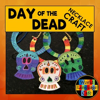 Day of the Dead, Día de los Muertos Craft, Craftivity Skull Necklace