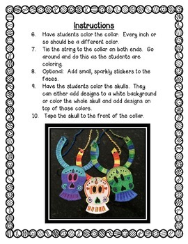 Day of the Dead Skull Art Project, Día de los Muertos Art, Craft